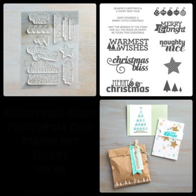 Christmas Bliss photopolymer