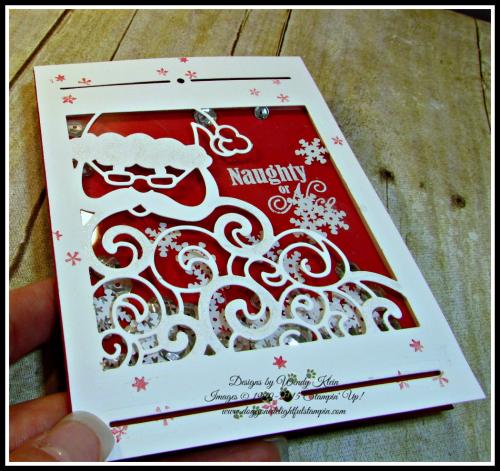Greetings from Santa, Detailed Santa Thinlits, Wink of Stella (7)