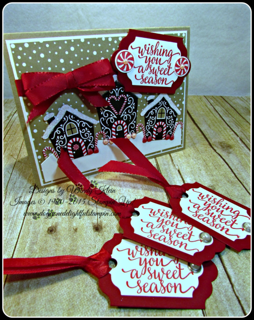 Candy Cane Christmas, Candy Cane Lane DSP, Lots of Labels Framelits, Cherry Cobbler Taffeta Ribbon (2)
