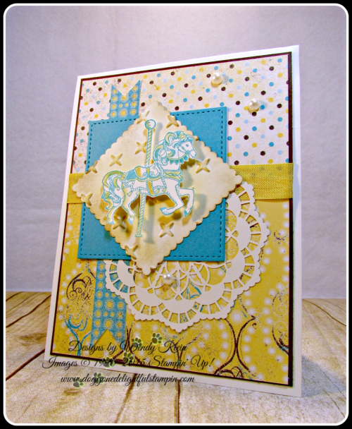 Carousel Birthday, Cupcakes & Carousels DSP, Layering Squares, Stitched Shapes framelits, Lace Doilies, Sparkle TIEF (2)