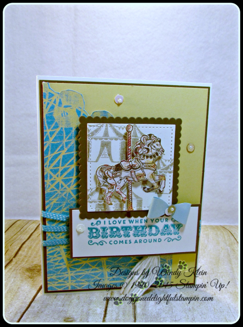 Carousel Birthday, Cupcakes & Carousels, Embellishment Kit, Stitched Shapes, Layering Squares, Bermuda Bay (3)