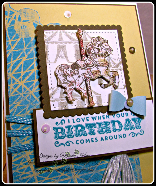 Carousel Birthday, Cupcakes & Carousels, Embellishment Kit, Stitched Shapes, Layering Squares, Bermuda Bay (6)