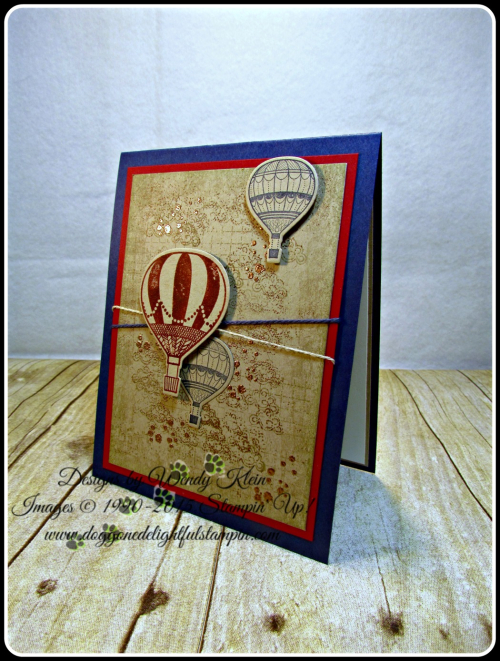 Lift Me Up, Timeless Textures, Up & Away Thinlits, Copper embossing powder, linen thread, Night of Navy bakers twine (2)