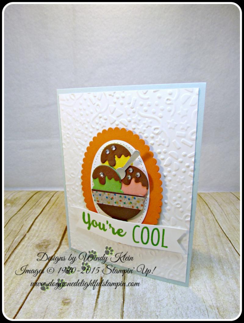 Cool Treats, Confetti TIEF, Layering Ovals framelits, Stitched Shapes Framelits, Frozen Treats framelits, Banner Triple Punch (6)