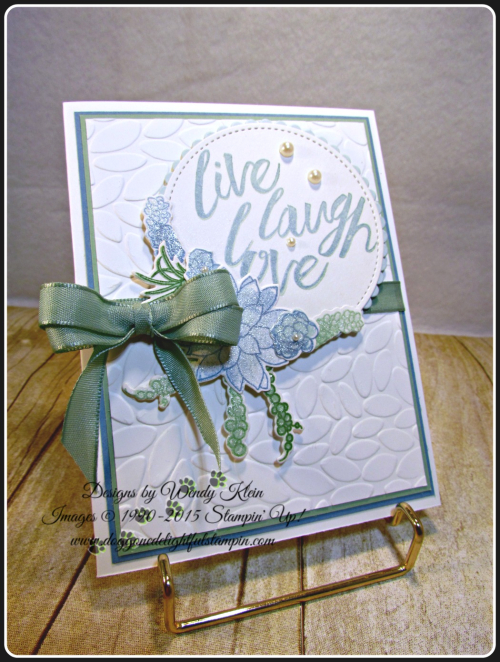 Oh So Succulent, Layering Love, Petal Burst TIEF, Stitched Shapes framelits, Layering Circles framelits, Succulent framelits, Wendy Klein, Stampin Up (4)
