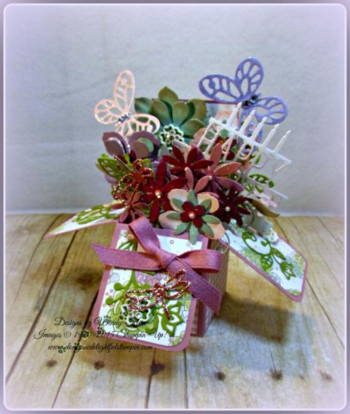 Pop Up Box Card, Succulent Framelits, Botanicals Builder Framelits, Butterfly Framelits, Party Pop-Up Thinlits, Stampin Up, Wendy Klein (1)