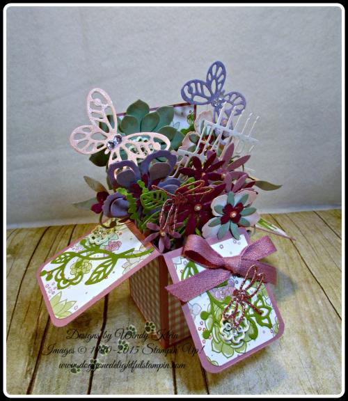 Pop Up Box Card, Succulent Framelits, Botanicals Builder Framelits, Butterfly Framelits, Party Pop-Up Thinlits, Stampin Up, Wendy Klein (7)