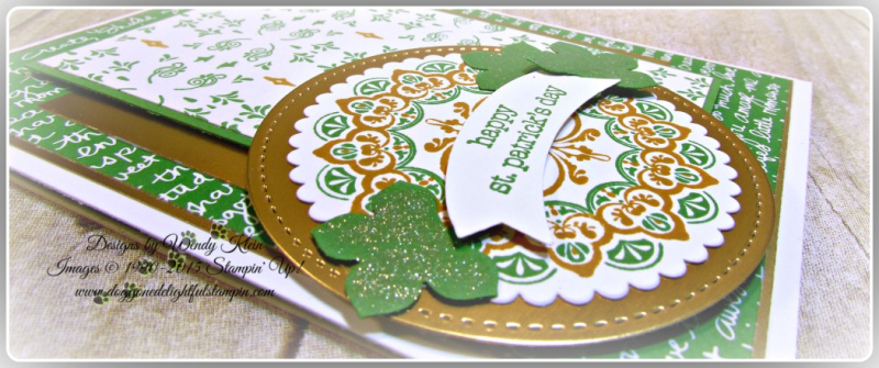 Make a Medallion  Teeny Tiny Wishes  Stitched Shapes Framelits  Layering Circles Framelits  Petite Petals Punch  Duet Banner Punch  Wendy Klein  Stampin Up (6)