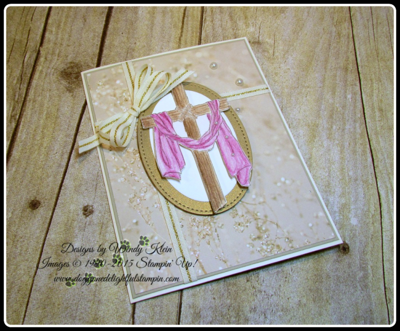 Easter Message  Sending Thoughts  Falling In Love DSP  Layering Ovals  Stitched Shapes framelits  Watercolor Pencils  Wendy Klein  Stampin Up (4)