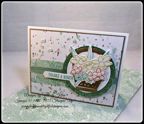 Basket Bunch  Succulent Garden DSP  Basket Builder Framelits  Stitched Shapes Framelits  Classic Label Punch  SAB Glimmer Paper Asst pack  Mint Macaron Sheer Linen Ribbon  Wendy Klein  Stampin Up (1)