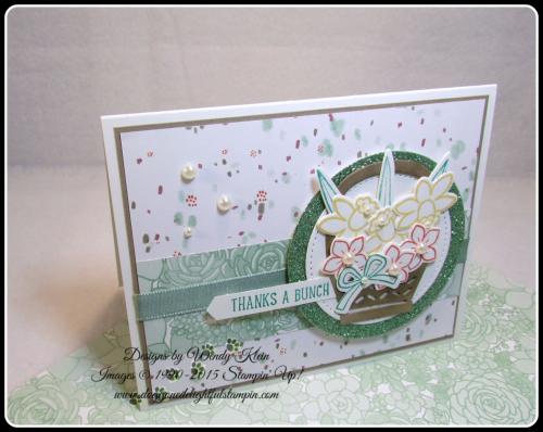 Basket Bunch  Succulent Garden DSP  Basket Builder Framelits  Stitched Shapes Framelits  Classic Label Punch  SAB Glimmer Paper Asst pack  Mint Macaron Sheer Linen Ribbon  Wendy Klein  Stampin Up (6)