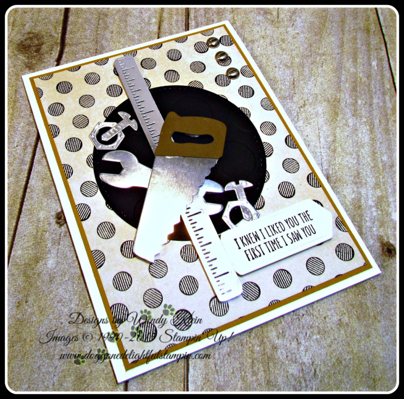 Nailed It  Suite Sentiments  Build It Framelits  Stitched Shapes Framelits  Large Polka Dot TIEF  Urban Underground DSP  Urgan Underground Embellishments (4)