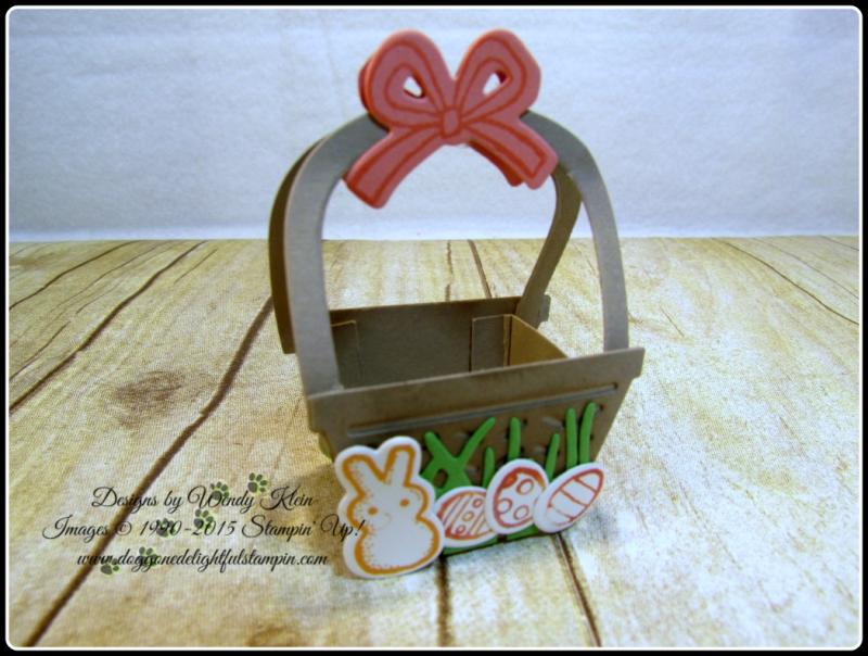 Mini Easter Basket - Basket Bunch  Basket Builder Framelits (9)