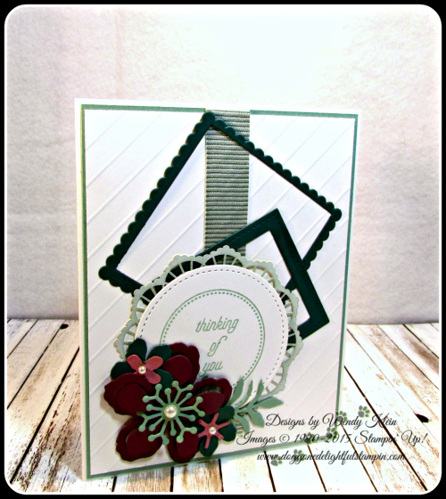 Botanical Builder Framelits  That's the Tag  Stitched Shapes Framelits  Layering Squares Framelits  Mint Macaron Mini Striped Ribbon  Lace Doilies  Pearls (1)
