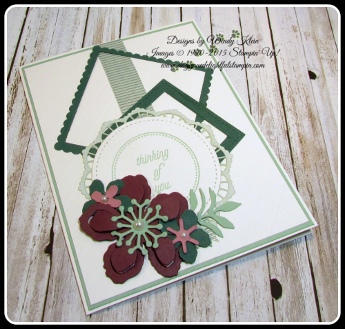 Botanical Builder Framelits  That's the Tag  Stitched Shapes Framelits  Layering Squares Framelits  Mint Macaron Mini Striped Ribbon  Lace Doilies  Pearls (4)