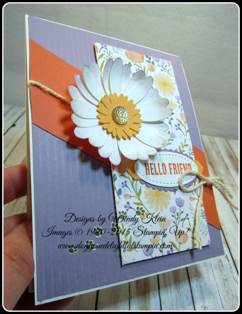 Daisy Delight  Wood Words  Daisy Punch  Blossom Bunch Punch  Stitched Shapes Framelits  Layering Ovals  Faceted Gems (5)