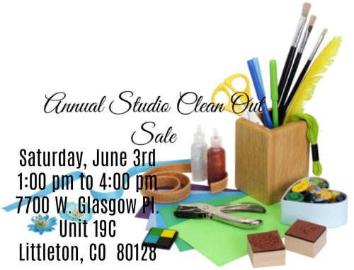 Studio Clean Out Sale 2017