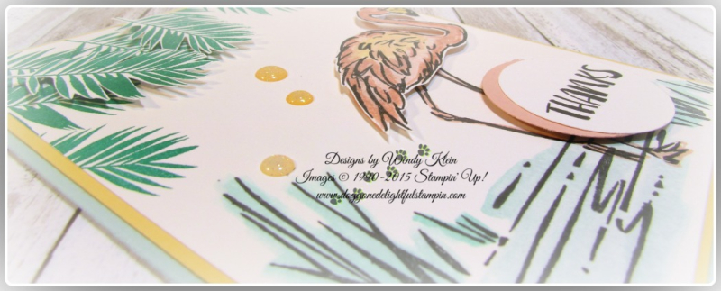 Fabulous Flamingo  Clear Wink of Stella  Glitter Enamel Dots  watercolor (6)