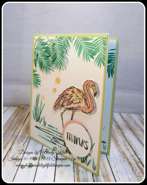 Fabulous Flamingo  Clear Wink of Stella  Glitter Enamel Dots  watercolor (3)