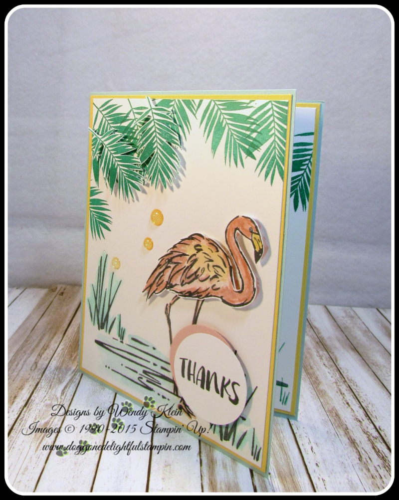 Fabulous Flamingo  Clear Wink of Stella  Glitter Enamel Dots  watercolor (3)