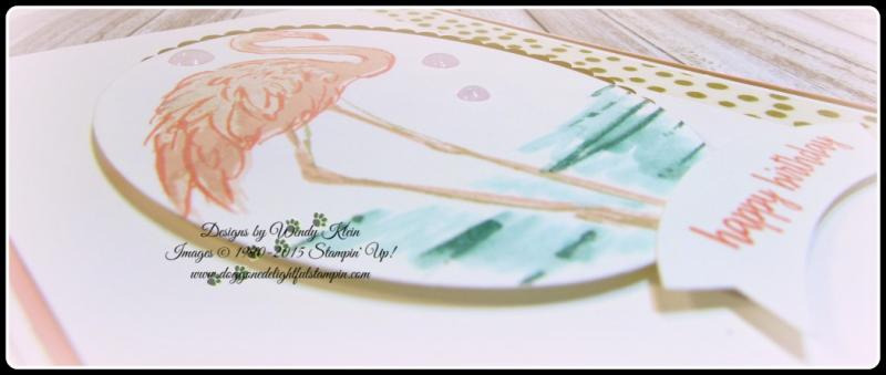 Fabulous Flamingo  Happy Birthday Gorgeous  Layering Ovals framelits  Duet Banner Punch  Glitter Enamel Dots (5)