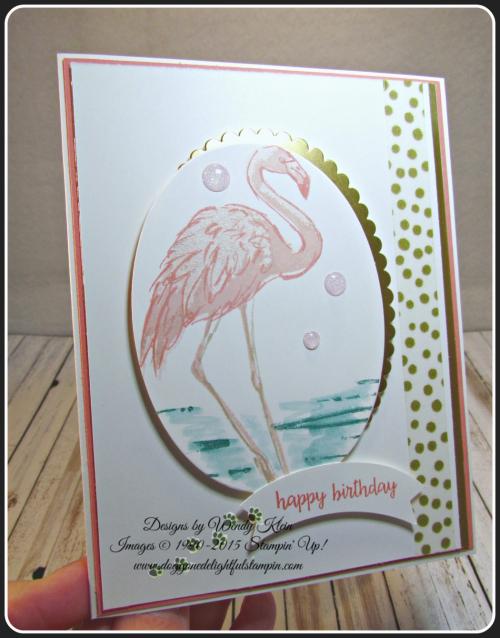 Fabulous Flamingo  Happy Birthday Gorgeous  Layering Ovals framelits  Duet Banner Punch  Glitter Enamel Dots (7)