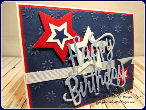 Happy Birthday thinlit  Oh My Stars TIEF  Stars framelits  Confetti Celebration  Whisper White classic weave ribbon (2)