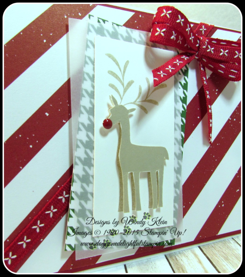Merry Mistletoe  Be Merry DSP  Cherry Cobbler Double-Stitched Ribbon - 2