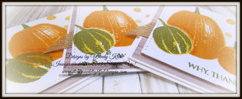 Gourd Goodness  Wood Textures DSP  Stitched Shapes Framelits  Burlap Ribbon  Glitter Enamel Dots - 2