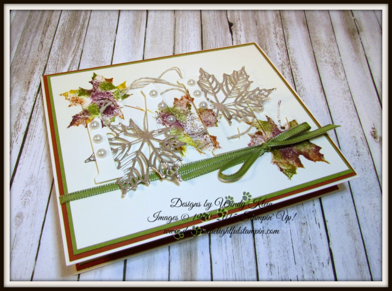 Large Letters Framelits  Colorful Seasons  Seasonal Layers Thinlits  Champagne Foil  Babywipe Technique  stampinup - 3
