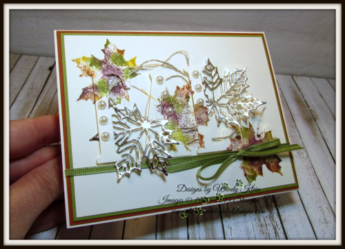 Large Letters Framelits  Colorful Seasons  Seasonal Layers Thinlits  Champagne Foil  Babywipe Technique  stampinup - 5