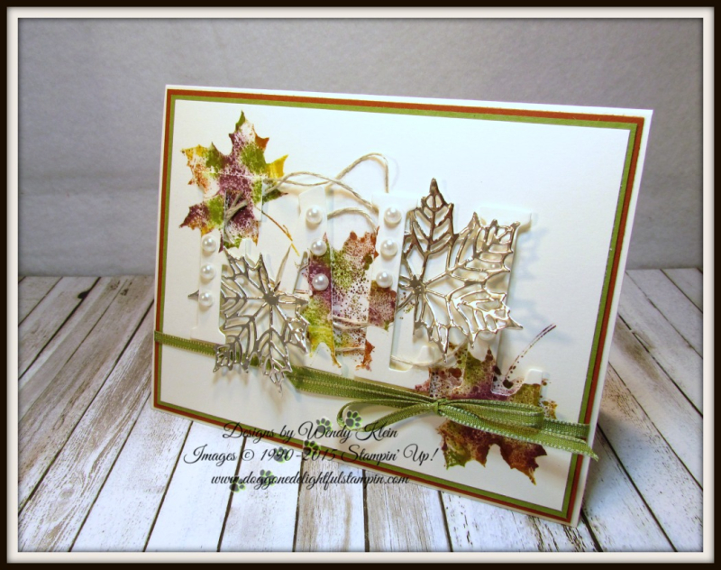 Large Letters Framelits  Colorful Seasons  Seasonal Layers Thinlits  Champagne Foil  Babywipe Technique  stampinup - 6