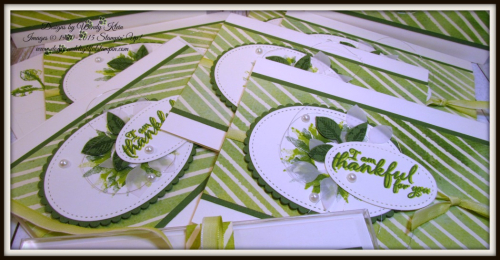Painted Harvest  Painted Autumn DSP  Leaf Punch  Layering Ovals  Stitched Shapes  Ombre Ribbon - 2