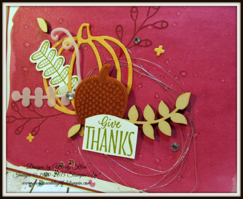 Pick a Pumpkin  Labels to Love  Patterned Pumpkins Thinlits  Touches of Nature Elements  Silver Metallic Thread - 3