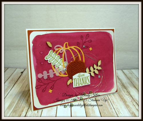 Pick a Pumpkin  Labels to Love  Patterned Pumpkins Thinlits  Touches of Nature Elements  Silver Metallic Thread - 5