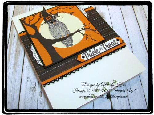 Spooky Cat  Spooky Night DSP  Classic Label Punch  Black Rhinestones  Vintage Crochet Trim - 4