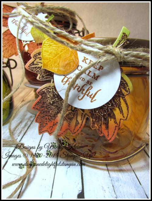 Tealite Jar  Vintage Leaves  Layered Leaves  Jute - 3