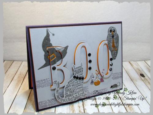 Spooky Cat  Cat Punch  Large Letters Framelits - 1