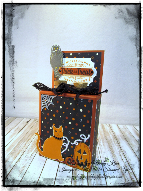 Test Tube Treat Box  Spooky Night DSP  Everyday Label Punch  Classic Label Punch  Vintage Crochet Trim - 1