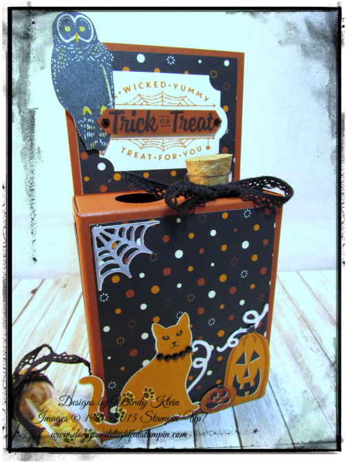 Test Tube Treat Box  Spooky Night DSP  Everyday Label Punch  Classic Label Punch  Vintage Crochet Trim - 3
