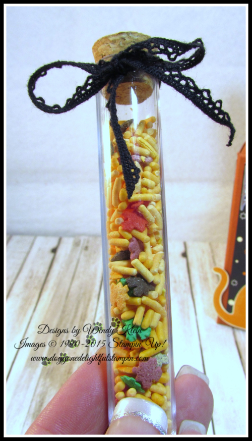 Test Tube Treat Box  Spooky Night DSP  Everyday Label Punch  Classic Label Punch  Vintage Crochet Trim - 4