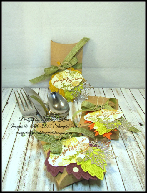 Thanksgiving Placesetting Holder with Trim Your Stocking Thinlits - 4
