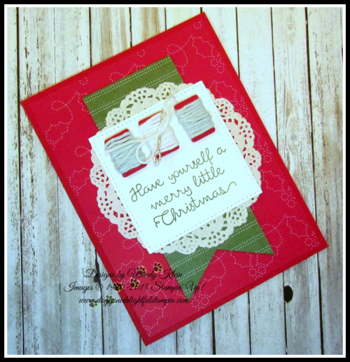 Christmas Quilt  Banner Triple Punch  Detailed Lace Doilies  Stitched Shapes framelits  Quilted Christmas DSP - 3