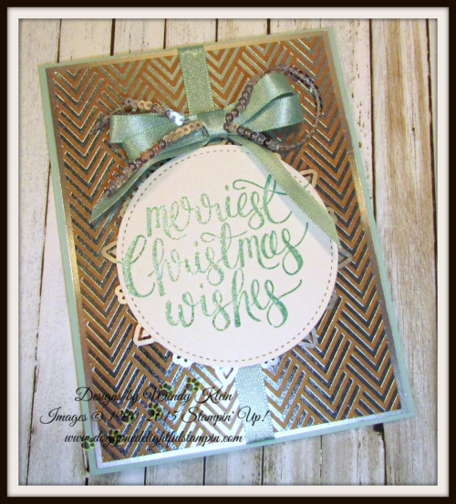Watercolor Christmas Foil Frenzy card collection - 5