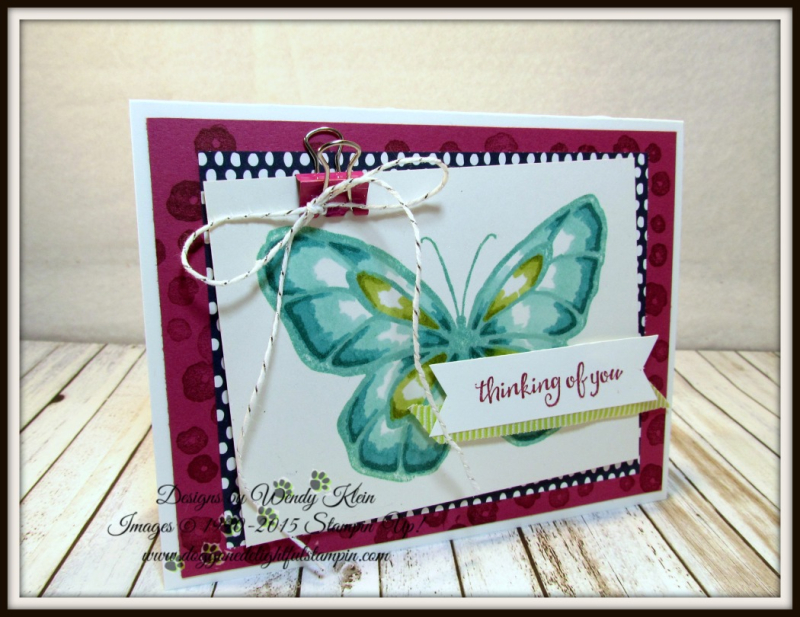 Beautiful Day  Stampin' Blends  Birthday Mini Binder Clips  Silver Baker's Twine  Lemon Lime Twist Mini Striped Ribbon - 1