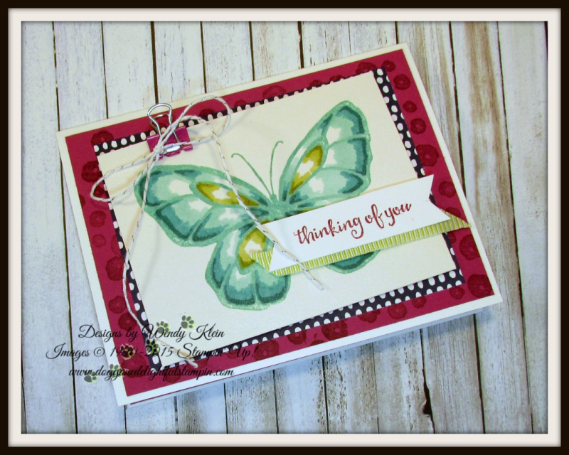 Beautiful Day  Stampin' Blends  Birthday Mini Binder Clips  Silver Baker's Twine  Lemon Lime Twist Mini Striped Ribbon - 3