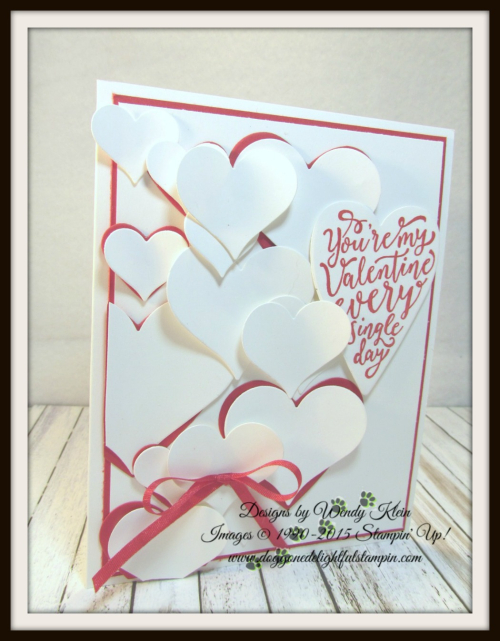 Sure Do Love You  Love You Still  Lots to Love Box Framelits  Sweet & Sassy Framelits  Real Red Solid Ribbon - 2
