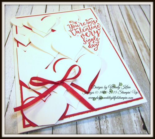 Sure Do Love You  Love You Still  Lots to Love Box Framelits  Sweet & Sassy Framelits  Real Red Solid Ribbon - 5