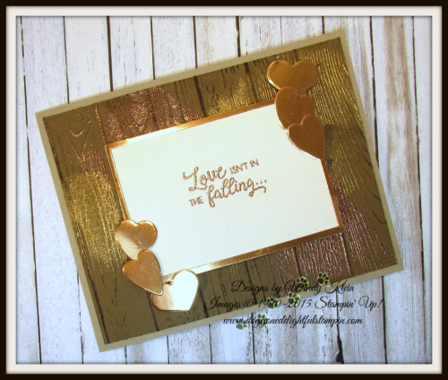 Masculine Valentine with Sliding Door Framelits  Lots to Love Box Framelits  Pinewood Planks Dynamic TIEF  Gold emboss powder  Copper emboss powder - 3