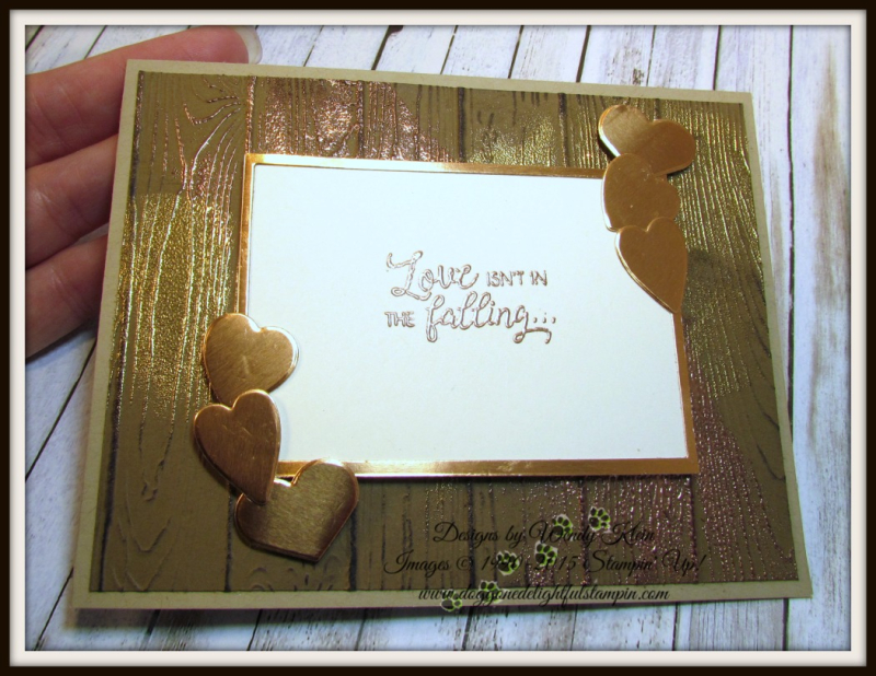 Masculine Valentine with Sliding Door Framelits  Lots to Love Box Framelits  Pinewood Planks Dynamic TIEF  Gold emboss powder  Copper emboss powder - 7